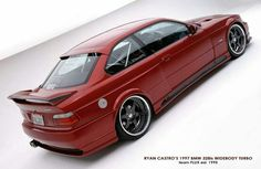 BMW E36 3 series turbo red widebody