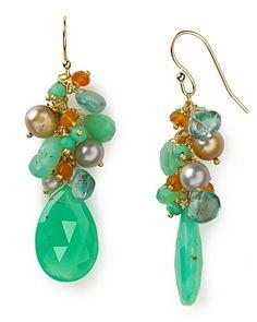 Alexis Bittar Chrysoprase Cluster Earrings   Bloomingdale's