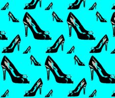Oh so FAB!! Tiffany blue high heel wallpaper!!