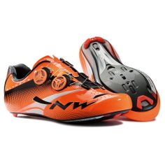 Northwave Extreme Tech Plus Road Cycling Shoes Orange, £254.98 (http://www.saltdogcycling.com/northwave-extreme-tech-plus-road-cycling-shoes-orange/)