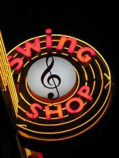 Swing Shop ~ Classic Neon Sign.18th & Vine.  KIDIMO loves...Does anyone still remember or enjoy vinyl?