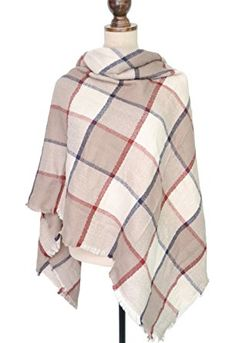 2016 Womens Mens Fashionable Blanket Plaid Winter Scarf Shawl Wrap Scarves at Amazon Women's Clothing store: