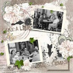 Totally Vintage and full of heart.  I just love this page.  Made with #Forever Friends by #Snickerdoodle Designs.  #theStudio #digiscrap #vintage
