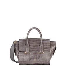 Hudson Small Grab Bag Grey Croc