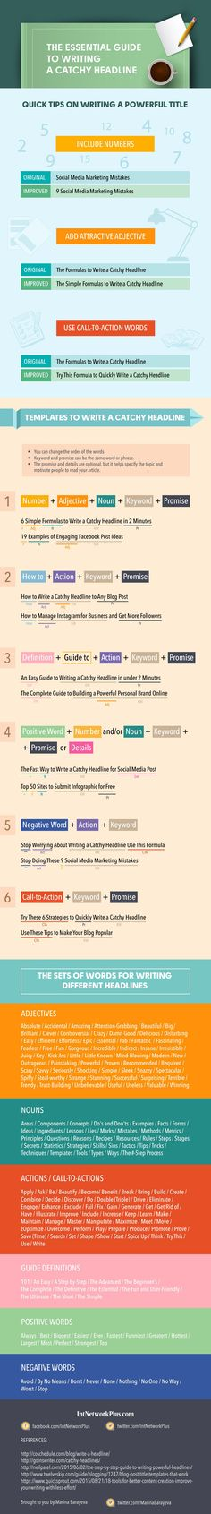 How to Write Better Headlines [Infographic], via @HubSpot