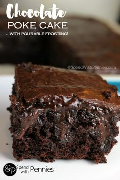 This chocolate poke cake from scratch is one of the most amazing and moist cakes you'll ever have! A secret ingredient brings out the chocolatey goodness!