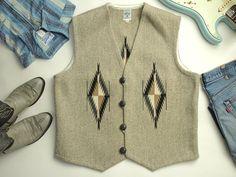 オルテガ 手織りチマヨ・ベスト 83RG-4610 サイズ46 オートミールグレー