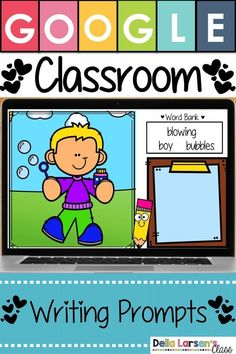 $3.75 · Google Classroom writing prompts for kindergarten and first grade writing centers. Digital writing activities for beginning writers. Work on writing with Google Classroom with visual writing prompts… More Kindergarten Activities, Writing Activities, Classroom Activities, Classroom Decor, Teaching Resources, Writing Centers, Literacy Centers, Writing Center Kindergarten, Reading Centers