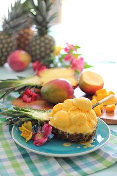 Craftberry Bush   No ice cream machine Pineapple coconut mango ice cream {sub honey or maple syrup to make AIP/paleo}