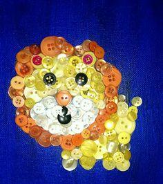 lion button art