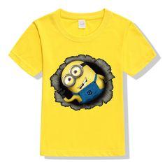 Minions 3D Cartoon T-Shirt  #art #design #instafashion #socialenvy #style #photooftheday #sale #fashion #instagood #beautiful