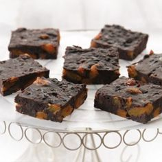 Chocolate and apricot slice