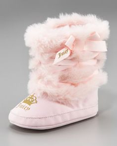 Faux-Fur Snow Boot by Juicy Couture Baby at Neiman Marcus.