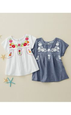 Everly Embroidered Blouse - Girls