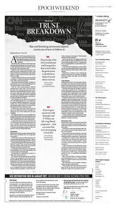 Trust Breakdown  Epoch Times #newspaper #editorialdesign