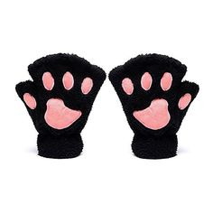 Odema Women Cute Cat Paw Fingerless Mitten Gloves (61 NOK) ❤ liked on Polyvore featuring accessories, gloves, fingerless mitten gloves, fingerless gloves, fingerless mittens, cat mittens and cat gloves