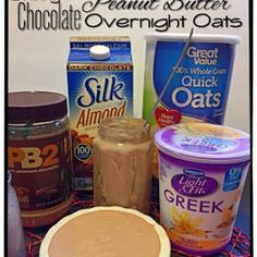 Skinny (no Bake) Chocolate Peanut Butter Overnight Oats With Chocolate Almond Milk, Butter Powder, Greek Yogurt, Quick Oats Overnight Oats Almond Milk, Oatmeal With Almond Milk, Overnight Oats In A Jar, Chocolate Overnight Oats, Chocolate Almond Milk, Smoothies With Almond Milk, Cooking Chocolate, Yogurt Smoothies, Chocolate Peanuts