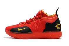 8e2e16e5b3bb How To Buy 2018 Spring Summer nike kd 11 university red black yellow  basketball shoes For Sale