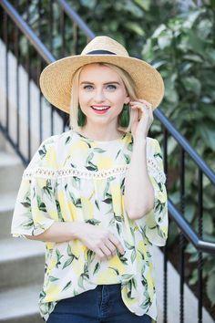 ff29cc5d0fe Lemon Print Blouse For Spring Under  100 - Poor Little It Girl
