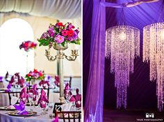 Ornate purple reception details at Green Gables #weddingphotography / just added