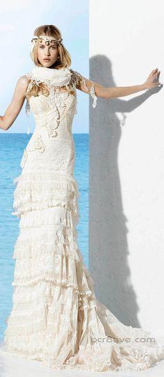 Los vestidos ibicencos son ideales para bodas en la playa, en un parque o jardín en épocas con clima cálido