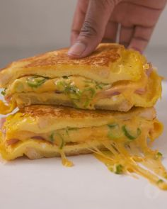 French Toast Omelette Foldover - 3 of your favorite breakfast dishes in ONE B . - French Toast Omelette Foldover – 3 of your favorite breakfast dishes in ONE BUMPER BREAKFAST 🤩 - Brunch Recipes, Snack Recipes, Dinner Recipes, Cooking Recipes, Healthy Recipes, Keto Recipes, Club Sandwich Recipes, Chard Recipes, Grilled Cheese Recipes