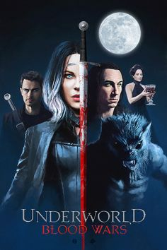 Underworld: Blood Wars by John Aslarona - Home of the Alternative Movie Poster -AMP- Underworld Werewolf, Underworld Vampire, Underworld Selene, Underworld Movies, Underworld Costume, Horror Movie Posters, Original Movie Posters, Horror Movies, Film Posters