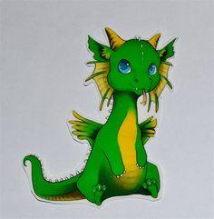 Items similar to Chibi Dragon Temporary Tattoo --- BLU on Etsy Puff The Magic Dragon, Little Dragon, Baby Dragon, Dragon 2, Fantasy Love, Fantasy Art, Dragon Nursery, Chibi, Dragon Images