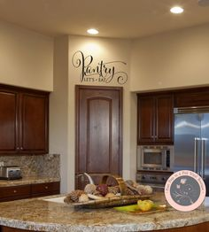 Wall Decals for the Home Pantry Wall Decal by AmandasDesignDecals