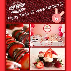 Party Time @www.bmbox.it #bitemebox #bmbox #party #follow #fun #theme #birthday #kids #festa #pink #design #decoration #cupcake #homedelivery #eventi #sweet #table