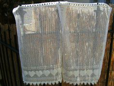 pretty pair of vintage french curtains with by ententecordiale, $40.00