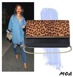 #WCW Take a walk on the wild side. Get #Riri's look with this leopard print shoulder bag at Moa. #MoaMe #GetTheLook #StyleIcon
