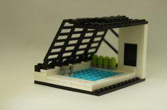 「あのプール」を、レゴブロックで作ってみました。