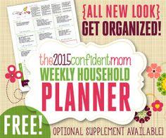 FREE Weekly Household Planner - Christin Slade