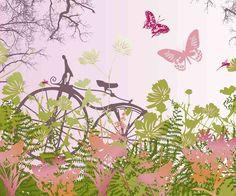 Livingwalls XXL-Tapete Bicycle on meadow (XXL) 036914 online kaufen