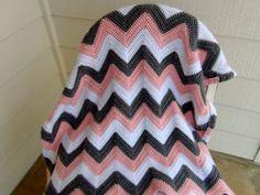 Custom Crochet Chevron Baby Afghan by camiscornershop on Etsy, $115.00