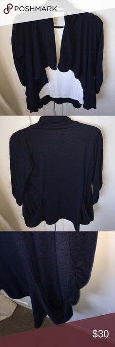 Navy Gibson sweater medium Navy Gibson sweater coat medium with pockets comfy and warm great for the fall Gibson Sweaters Shrugs & Ponchos