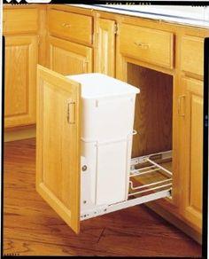 Amazon.com: Rev-A-Shelf 35Qt Pull-Out Waste Bin White: Home & Kitchen