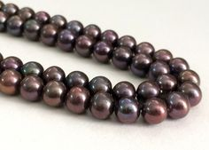 Pearls   Brown Purple Double Color Pearls Natural by gemsforjewels