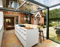26 Best Desain Dapur Terbuka Semi Outdoor Menghadap Taman Di