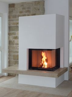 Good Absolutely Free Corner Fireplace modern Strategies Spot fireplaces supply plethora advantages to individuals using meeting locations excellent or maybe small. Home Fireplace, Modern Fireplace, Fireplace Design, Corner Fireplaces, Japanese Home Decor, Japanese House, Log Burner, Interior Design Living Room, Home Accessories