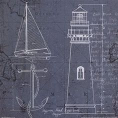 Shop for Marco Fabiano 'Coastal Blueprint IV' Framed Canvas Art - Multi. Get free delivery On EVERYTHING* Overstock - Your Online Art Gallery Store! Nautical Prints, Nautical Art, Canvas Art Prints, Fine Art Prints, Framed Canvas, Framed Prints, Affordable Wall Art, Silhouette, The Masterpiece