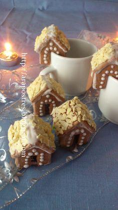 Galletas mini casitas para Navidad #arapostres #galletasglasa