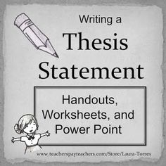 Thesis for english teachers