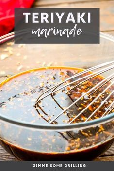 Aug 2019 - Teriyaki Marinade recipe is a quick and easy go-to for all of your steak, chicken and pork! It's quick, easy and gives your meat so much flavor! Cube Steak Recipes, Chicken Marinade Recipes, Marinade Sauce, Sauce Recipes, Grilling Recipes, Jerky Recipes, Drink Recipes, Healthy Freezer Meals, Dips