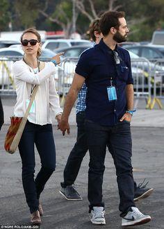 Natalie Portman and husband Benjamin Millepied enjoy romantic date night at the Jay-Z & Justin Timberlake concert #celebrity #DateNight