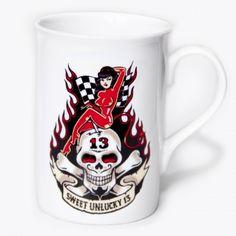 #unlucky #13 #racing #girl £9.50 http://toxico.uk/37-ceramics