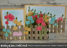 Julie Kettlewell - Stampin Up UK Independent Demonstrator - Order products Jar of Love Pop Up Flower Cards, Pop Up Cards, Cool Cards, Fancy Fold Cards, Folded Cards, Unique Cards, Creative Cards, Z Cards, Easel Cards