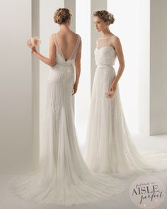 Embellished sheath dress by Soft by Rosa Clara