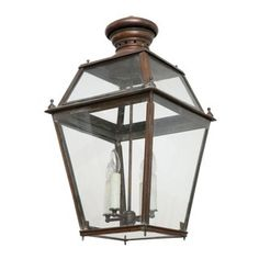 View this item and discover similar for sale at - Antique French copper lantern, circa Newly-wired for use within the USA. Includes extra chain and a canopy. Copper Lantern, Copper Pendant Lights, Copper Glass, Pendant Lighting, Lanterns For Sale, Antique Lanterns, Antiques For Sale, Mid Century Modern Furniture, Shop Lighting